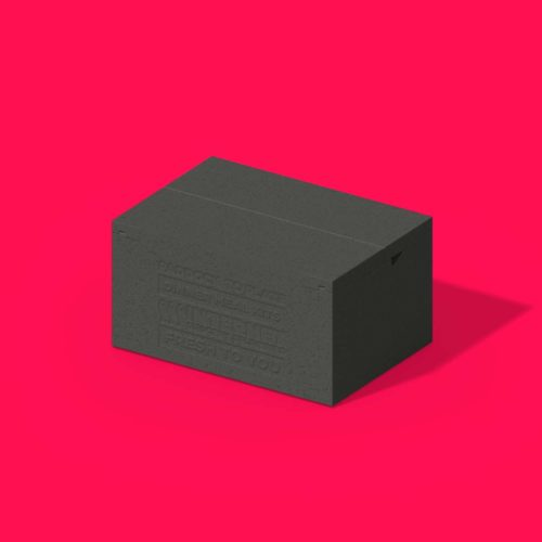 Hybrid Box on Red Background